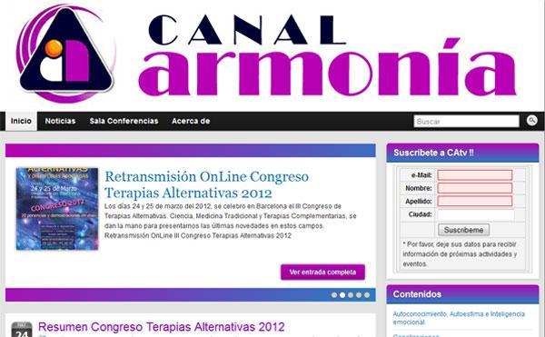 Canal Armonia.com  Web 2012