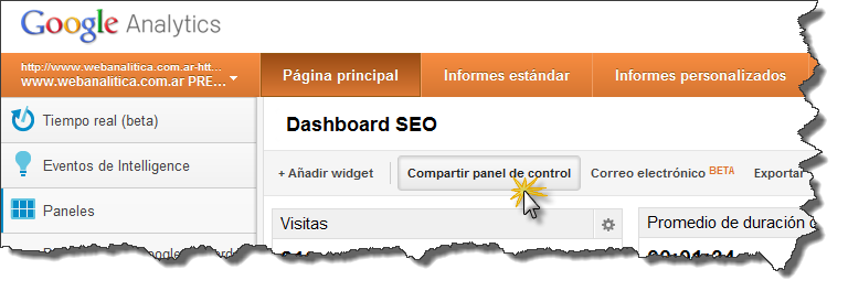 Dashboard-SEO-Google-Analytics-Compartir-panel-de-control