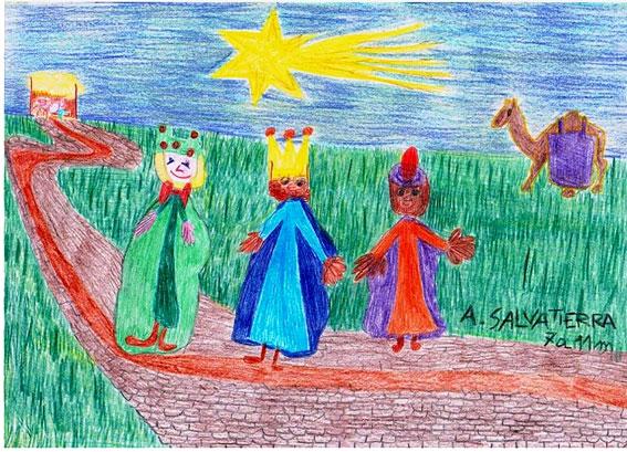 Dibujo Reyes Magos 2012