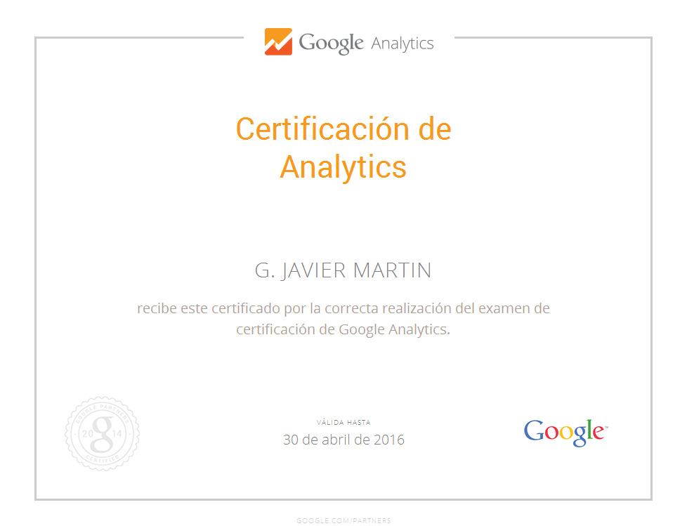 Certificacion Google Analytics