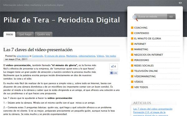 Pilar De Tera Periodismo Digital Web Blog