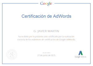 my Certificacion Google AdWords