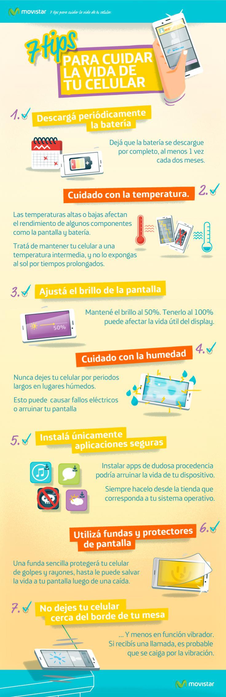 7 consejos movil - infografia