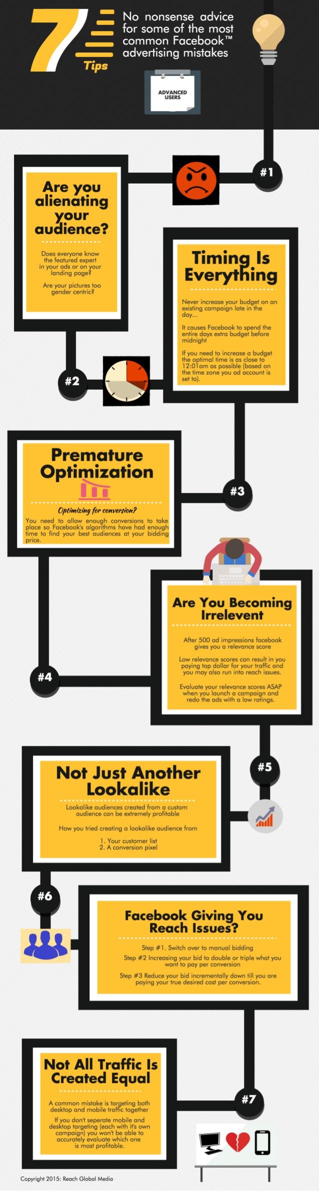 7 consejos publicidad facebook - infografia