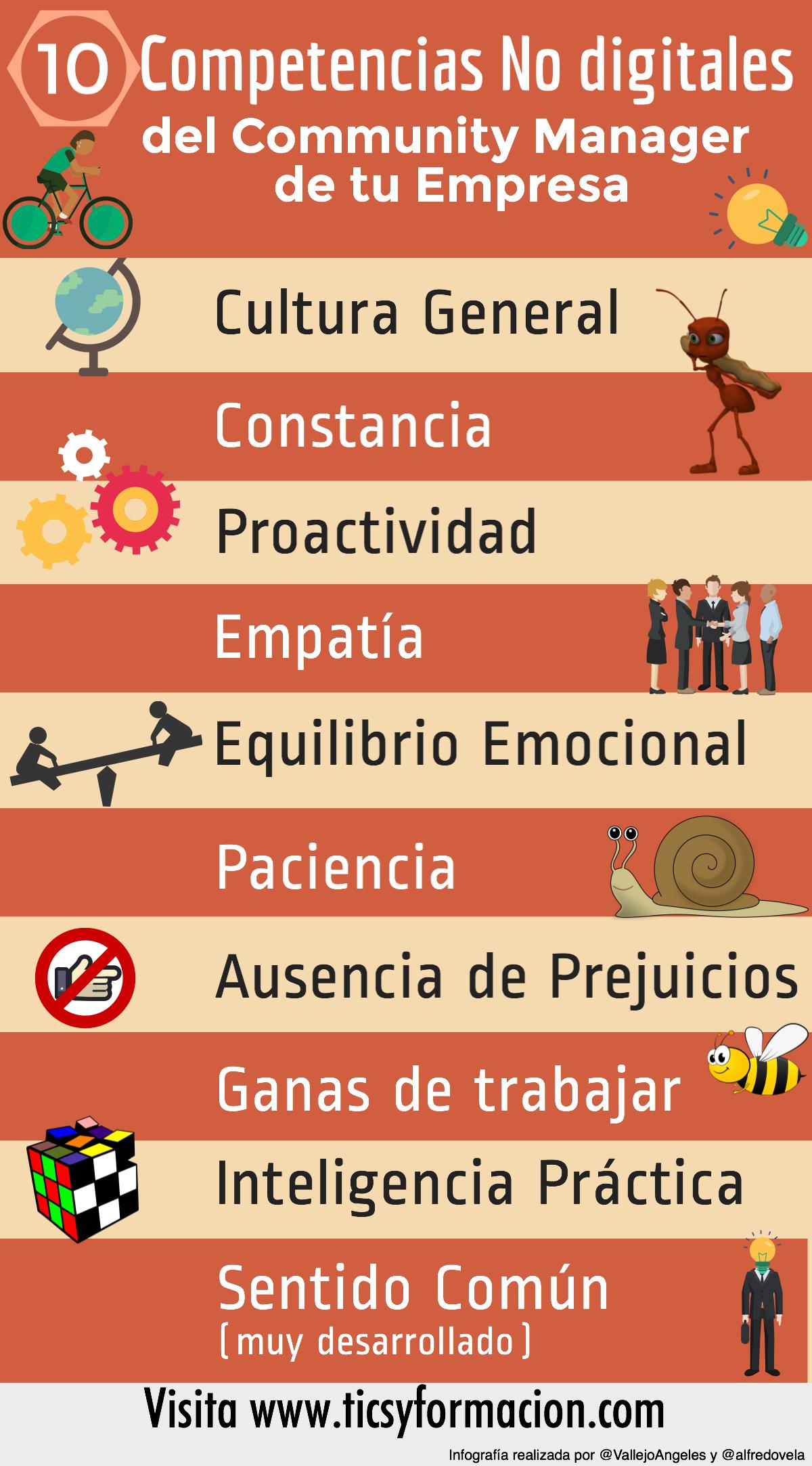 10 competencias NO digitales que debiera tener el Community Manager de tu Empresa #infografia #socialmedia