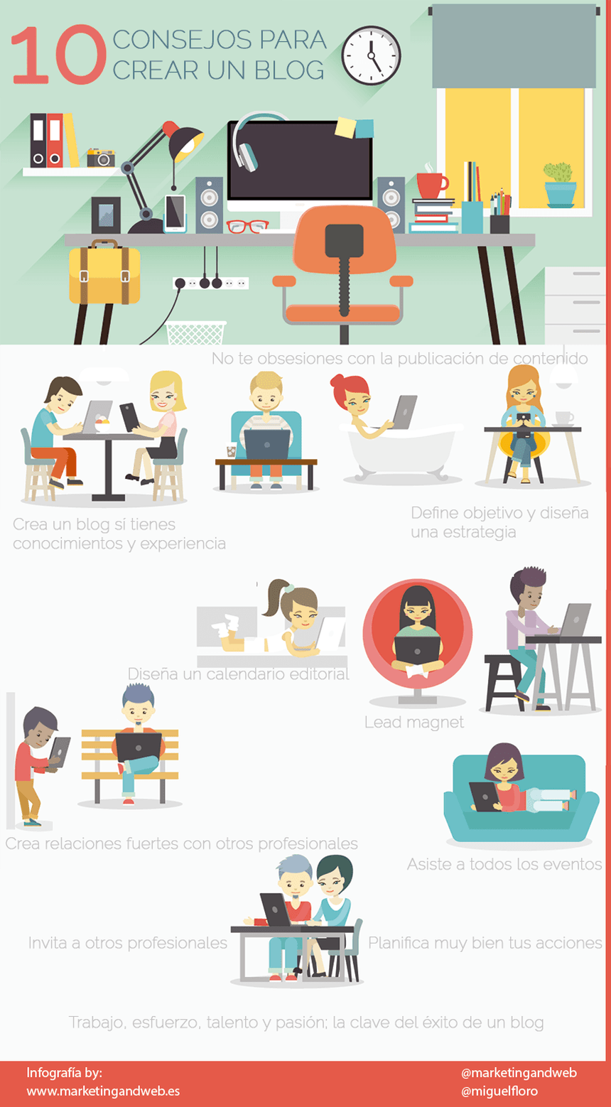 10 consejos para crear un Blog #infografia #infographic #socialmedia