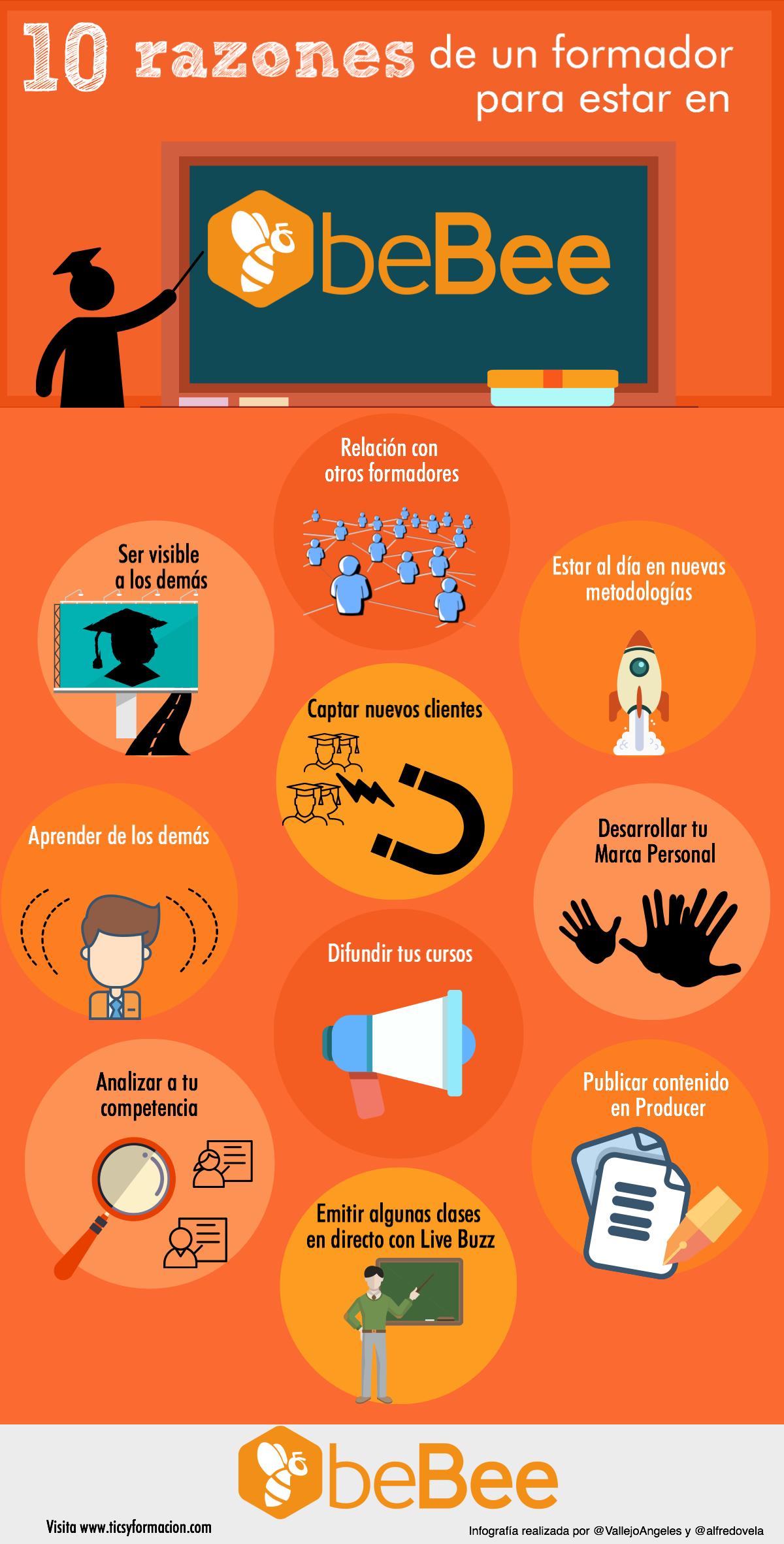10 razones de un formador para estar en beBee #infografia #infographic #socialmedia