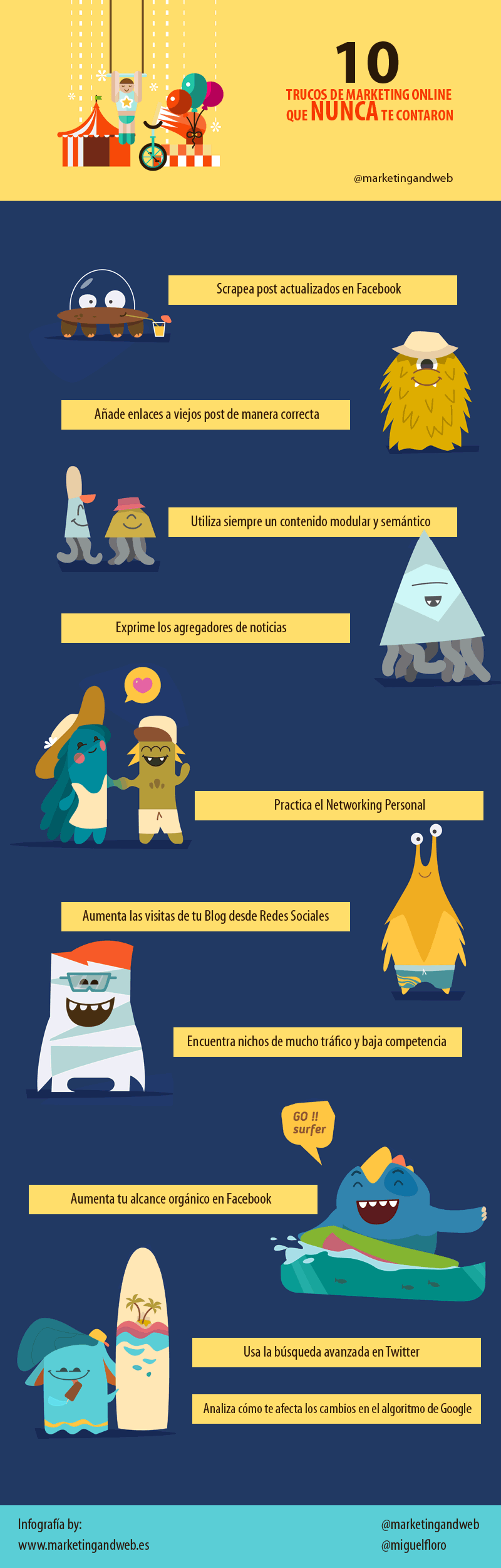 10 trucos de Marketing Online que nunca te contaron #infografia #marketing