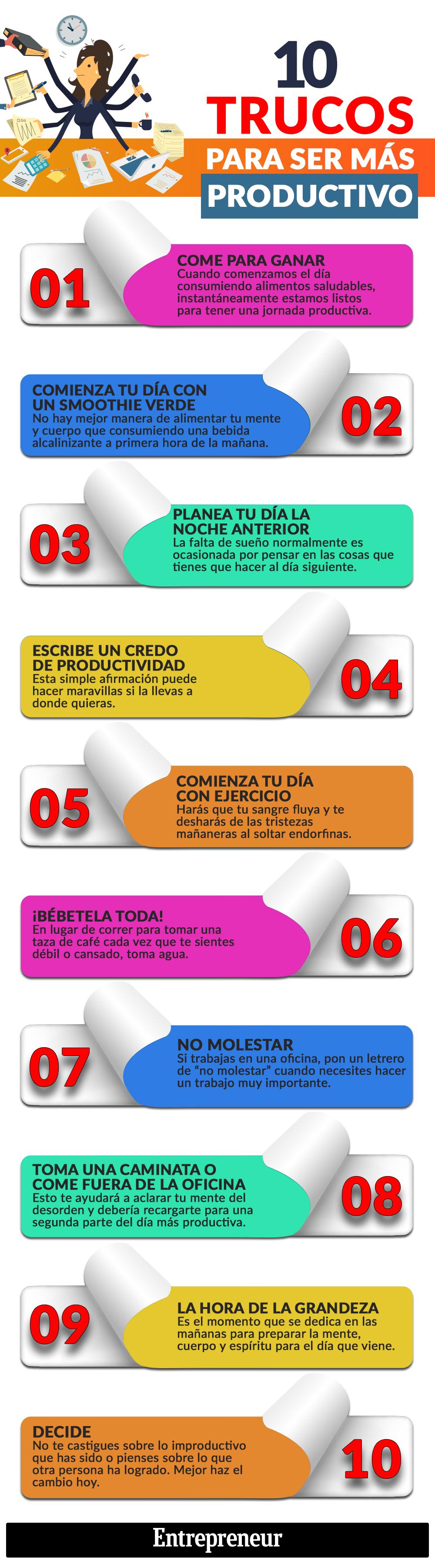 10 trucos para ser más productivo #infografia #infographic #rrhh