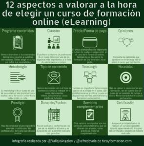 12 aspectos a valorar a la hora de elegir un curso deformación online (eLearning) #infografia #formación #elearning