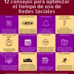 12 consejos para optimizar el tiempo de uso de Redes Sociales #infografia #SocialMedia #GestióndelTiempo