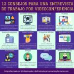 12 consejos para una entrevista de trabajo por videoconferencia #infografia #rrhh #empleo