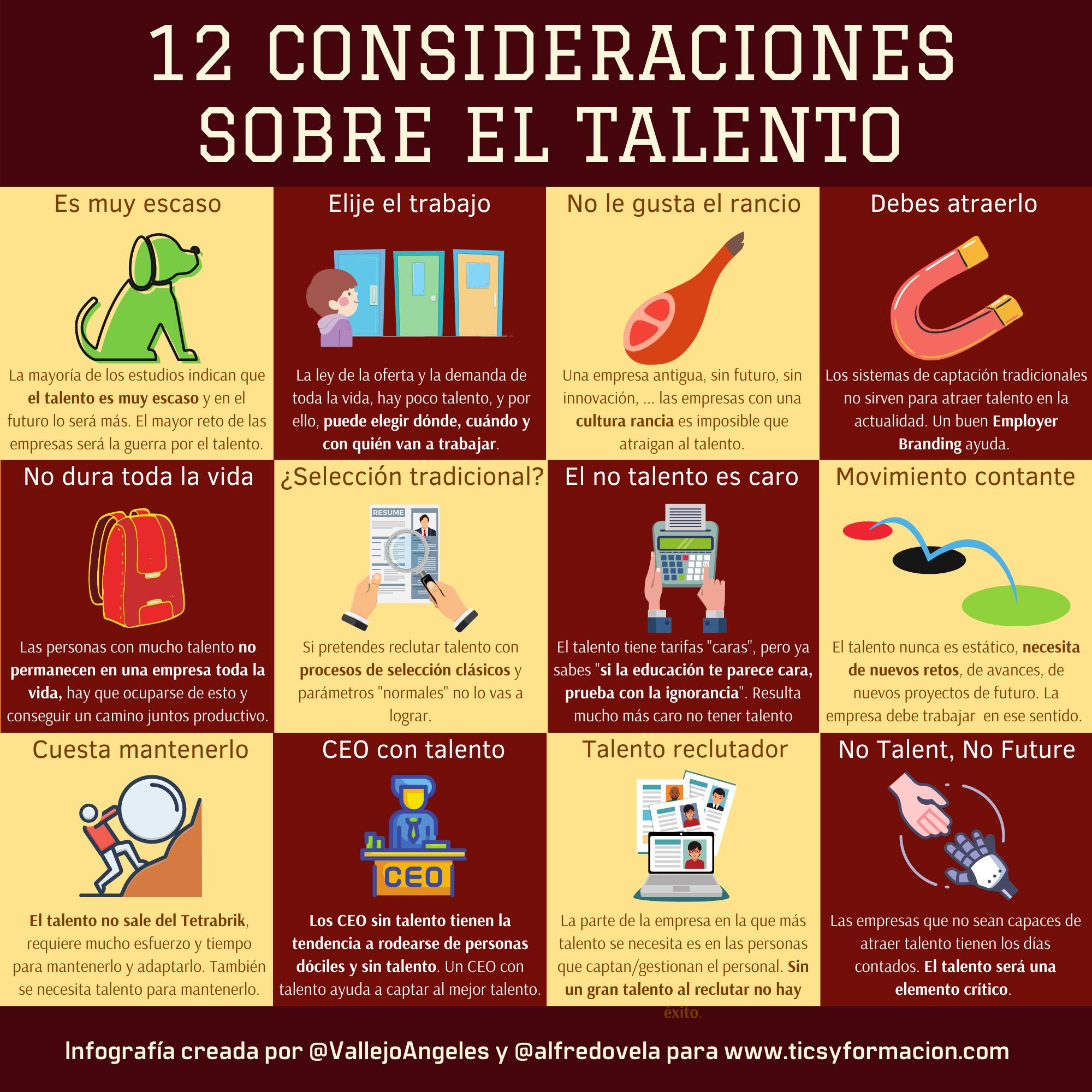 12 consideraciones sobre el talento #infografia #rrhh #talento