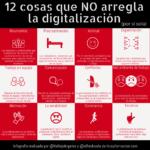 12 cosas que NO arregla la digitalización (por sí sola) #infografia #TransformaciónDigital