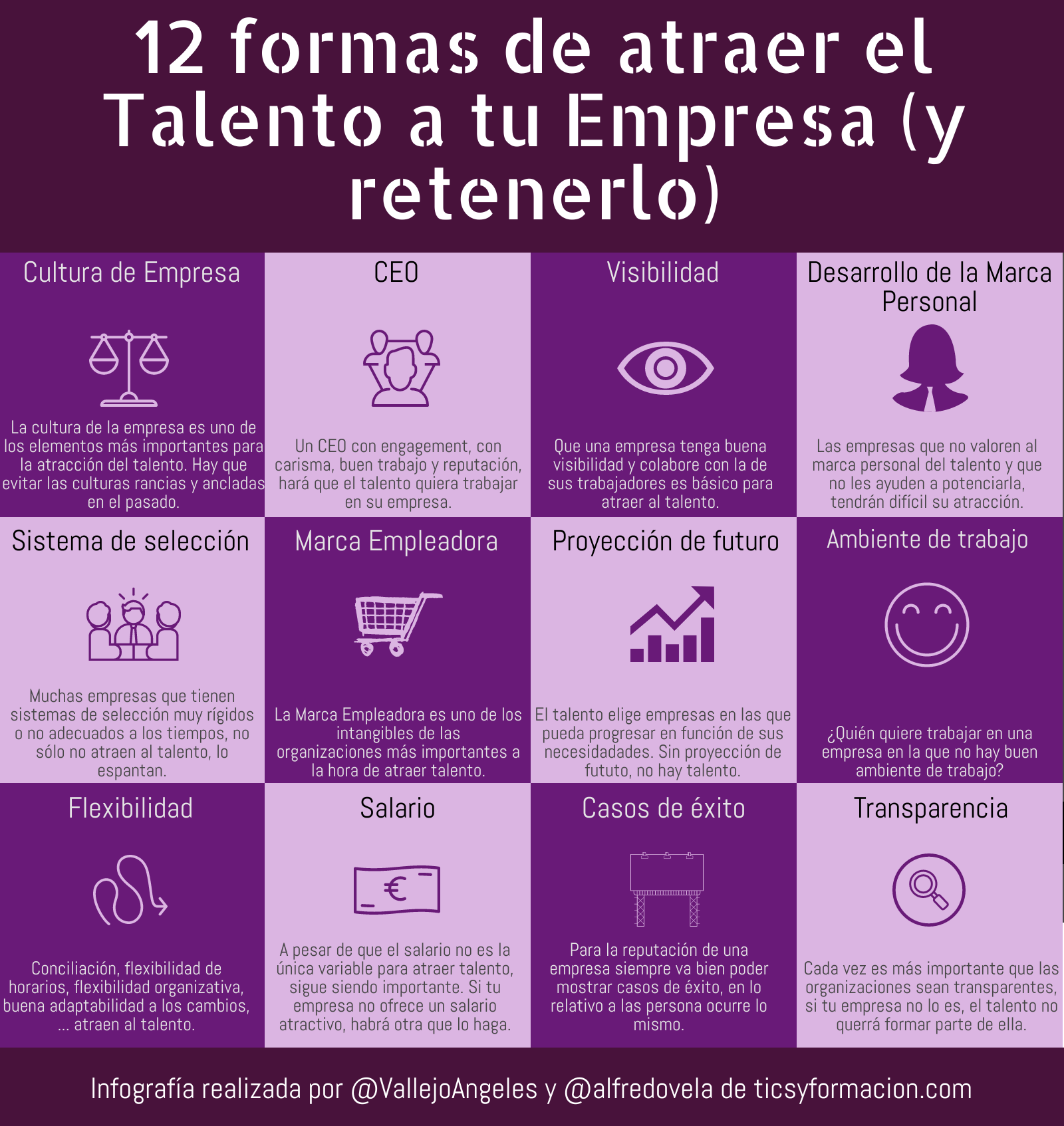 12 formas de atraer el Talento a tu empresa (y retenerlo) #infografia #talento #rrhh