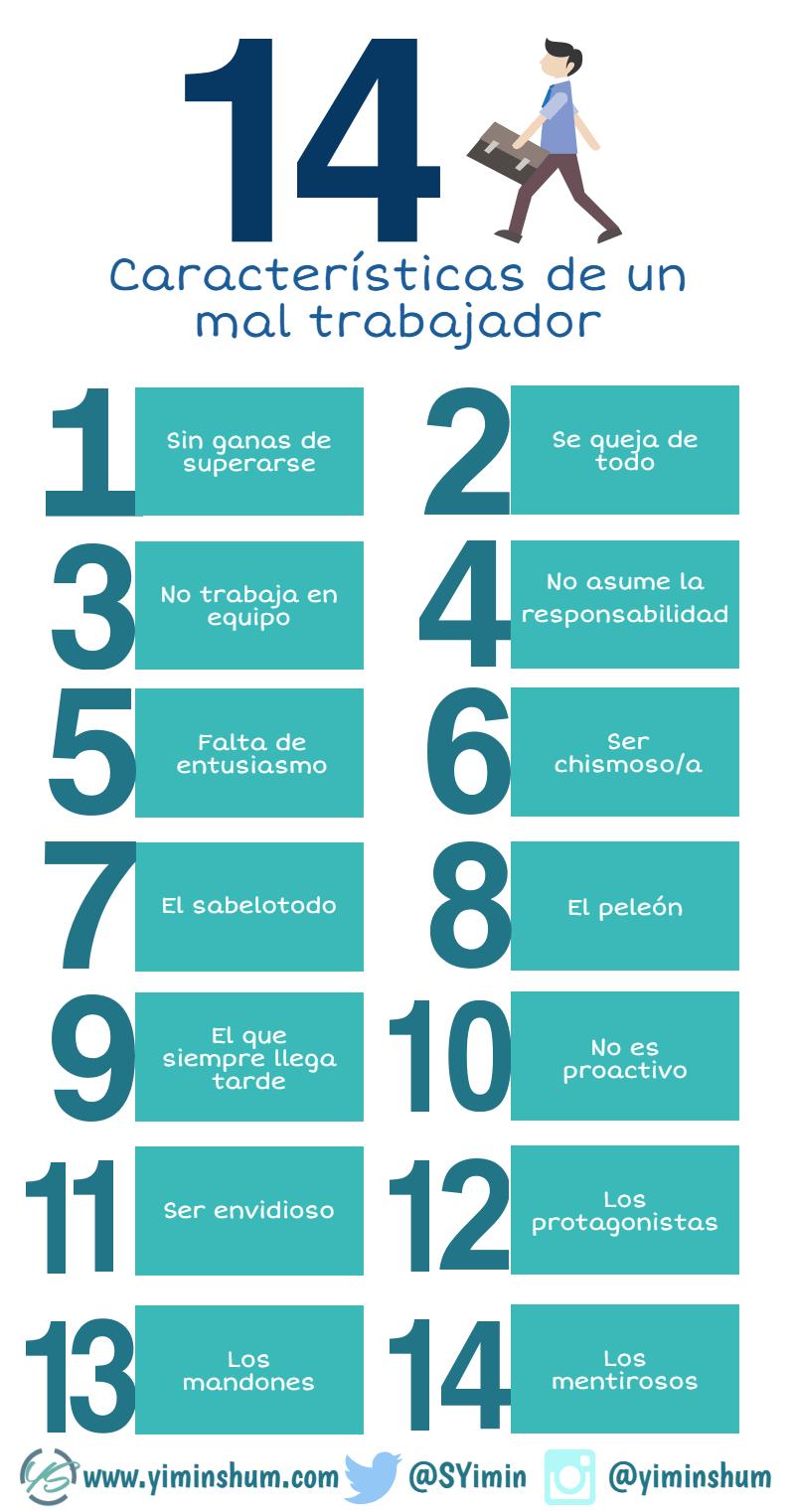 14 características de un mal trabajador #infografia #infographic #rrhh