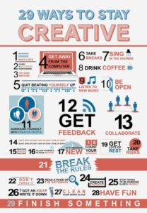 Infografia - 29 manieren om creatief te blijven [Infographic]