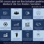 36 cosas que un Reclutador podría deducir de tus Redes Sociales (de la 25 a la 36) #infografia #socialmedia #orientaciónlaboral