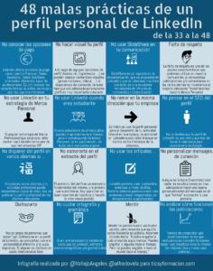 48 malas prácticas de un perfil personal en LinkedIn (de la 33 a la 48) #infografia #infographic #socialmedia
