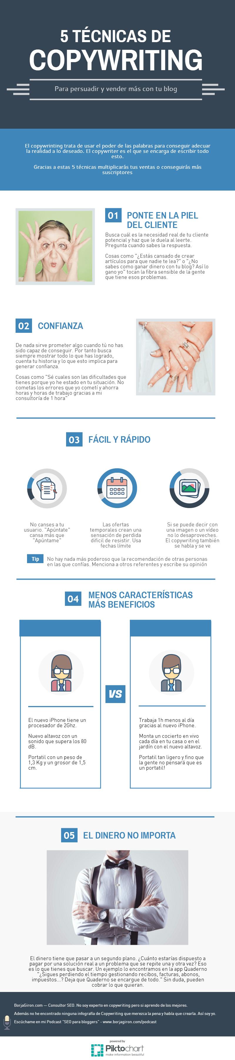 5 técnicas de copywriting #infografia #infographic #marketing