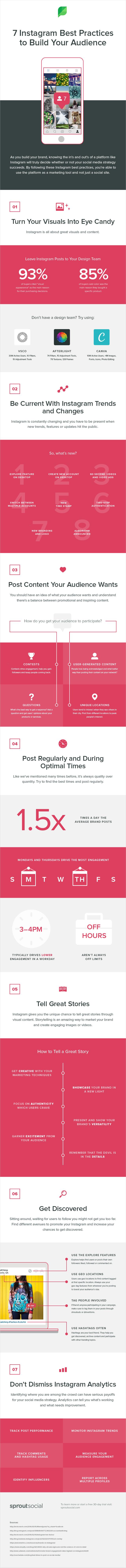 7 mejores prácticas para aumentar tu audiencia en Instagram #infografia #socialmedia