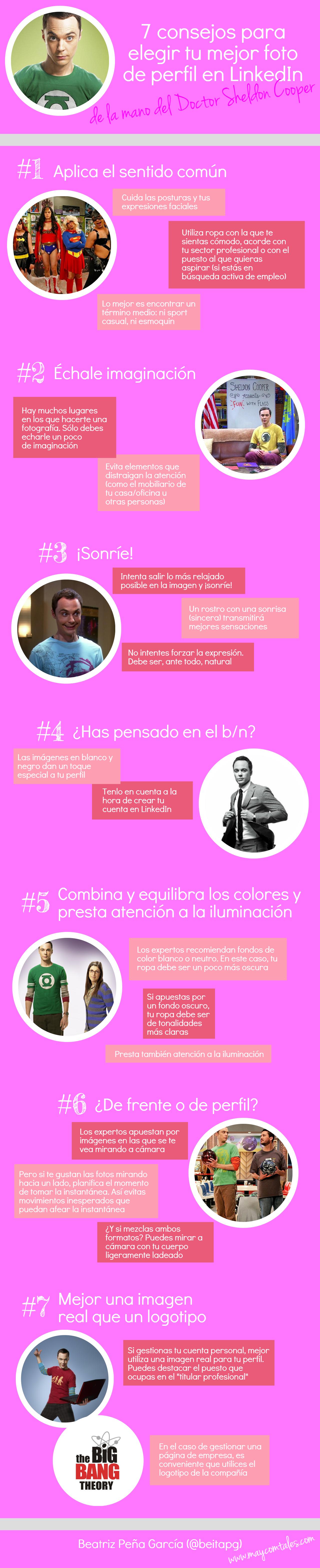 7 consejos para elegir tu mejor foto en un perfil de LinkedIn #infografia #socialmedia