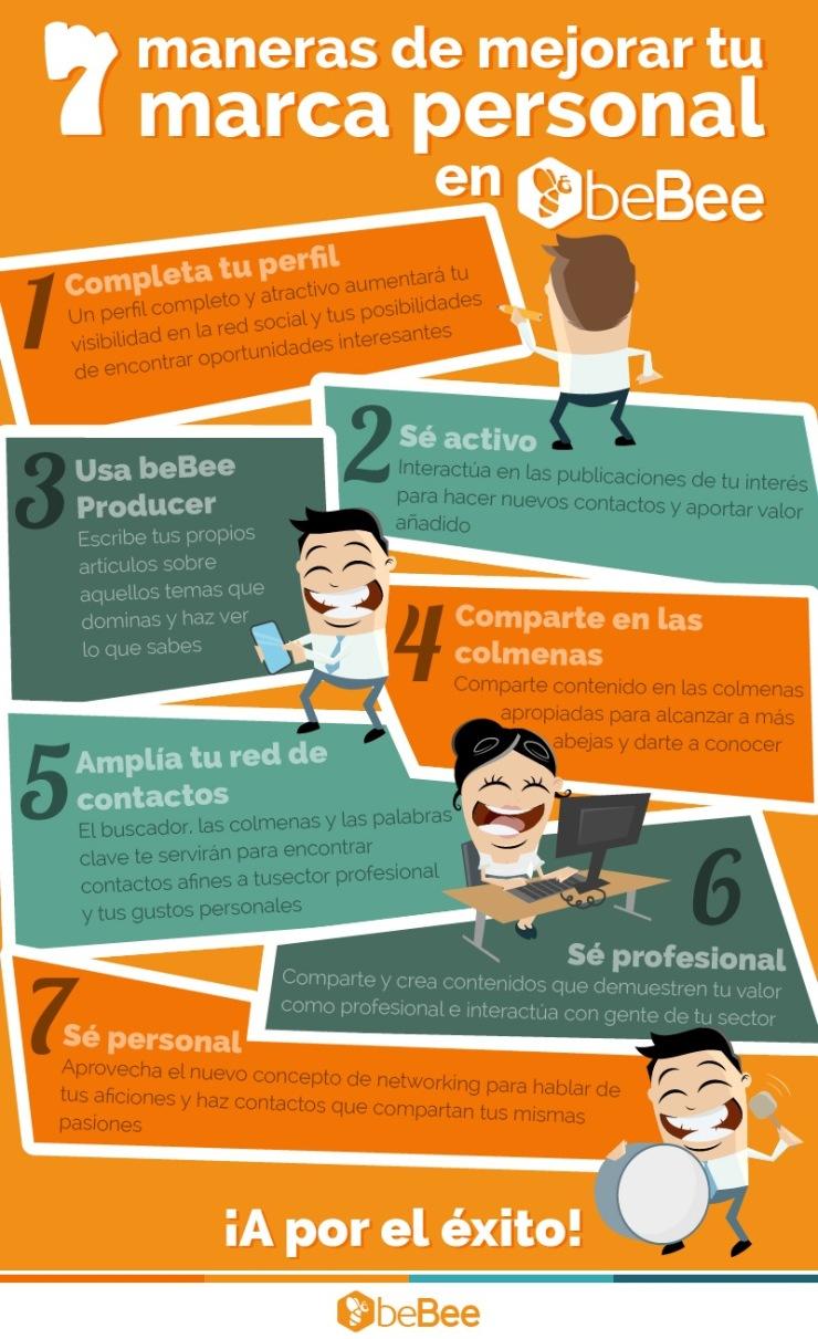 7 formas de mejorar tu Marca Personal en beBee #infografia #socialmedia #marketing