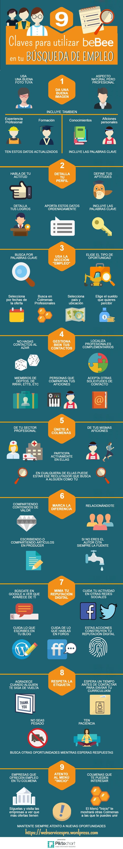 9 Claves para utilizar beBee en tu búsqueda de empleo #infografia #socialmedia #empleo