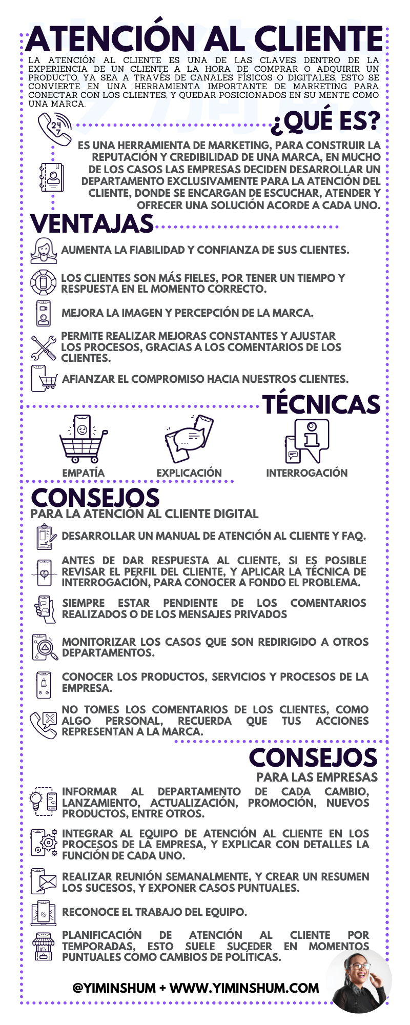 Atención al cliente #infografia #infographic #marketing