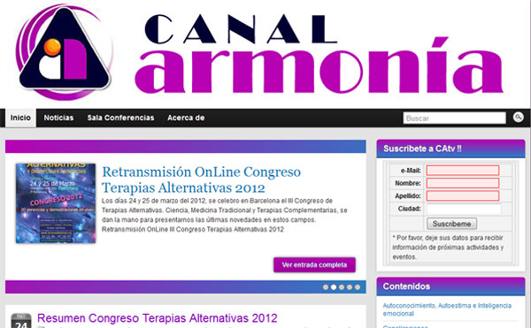 Canal Armonia TV Web Blog Streaming