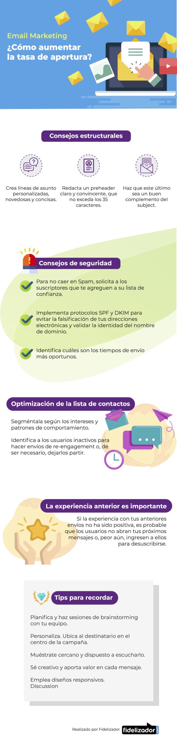 Cómo aumentar la tasa de apertura en Email Marketing #infografia #infographic #marketing