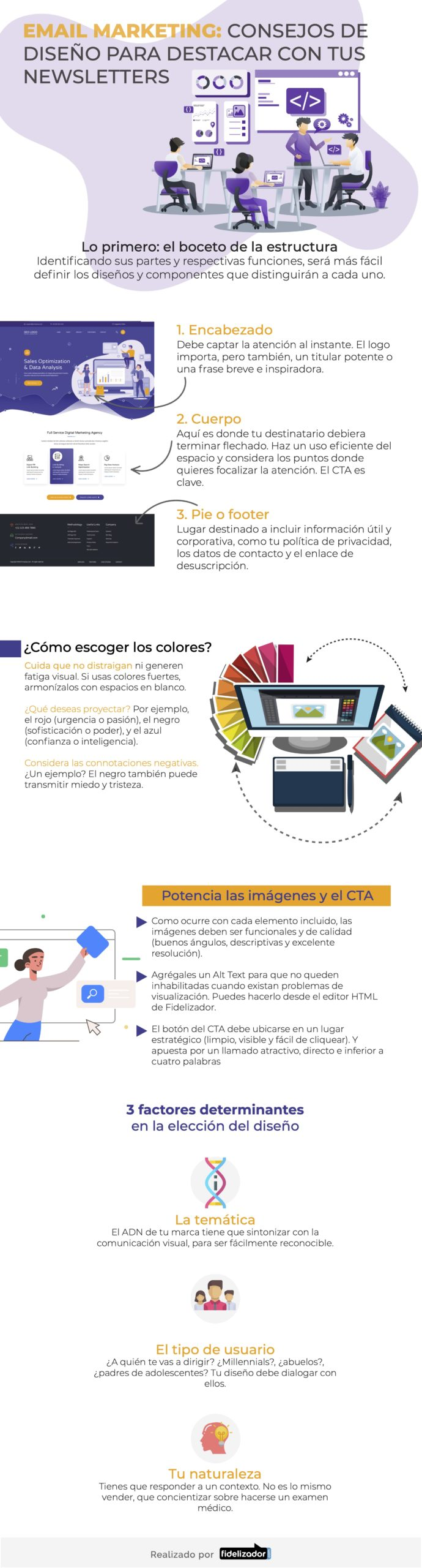 Consejos de diseño para destacar con tu Newsletter #infografia #infographic #marketing