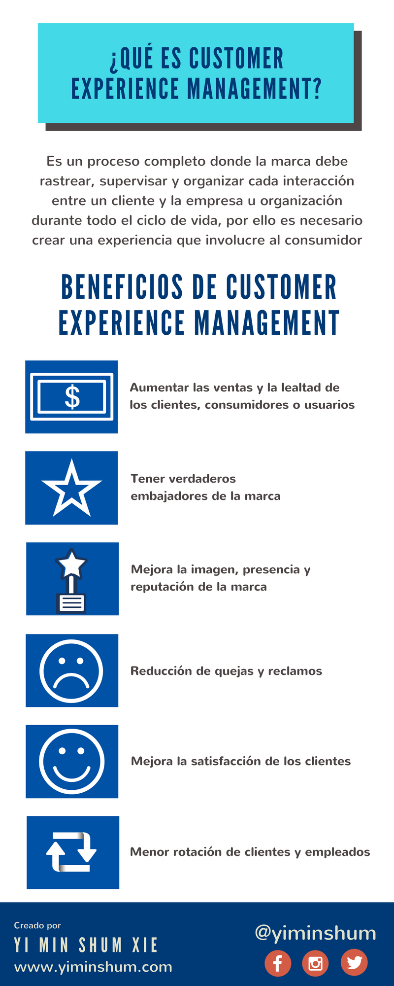 Qué es Customer Experience Management #infografia #infographic #marketing