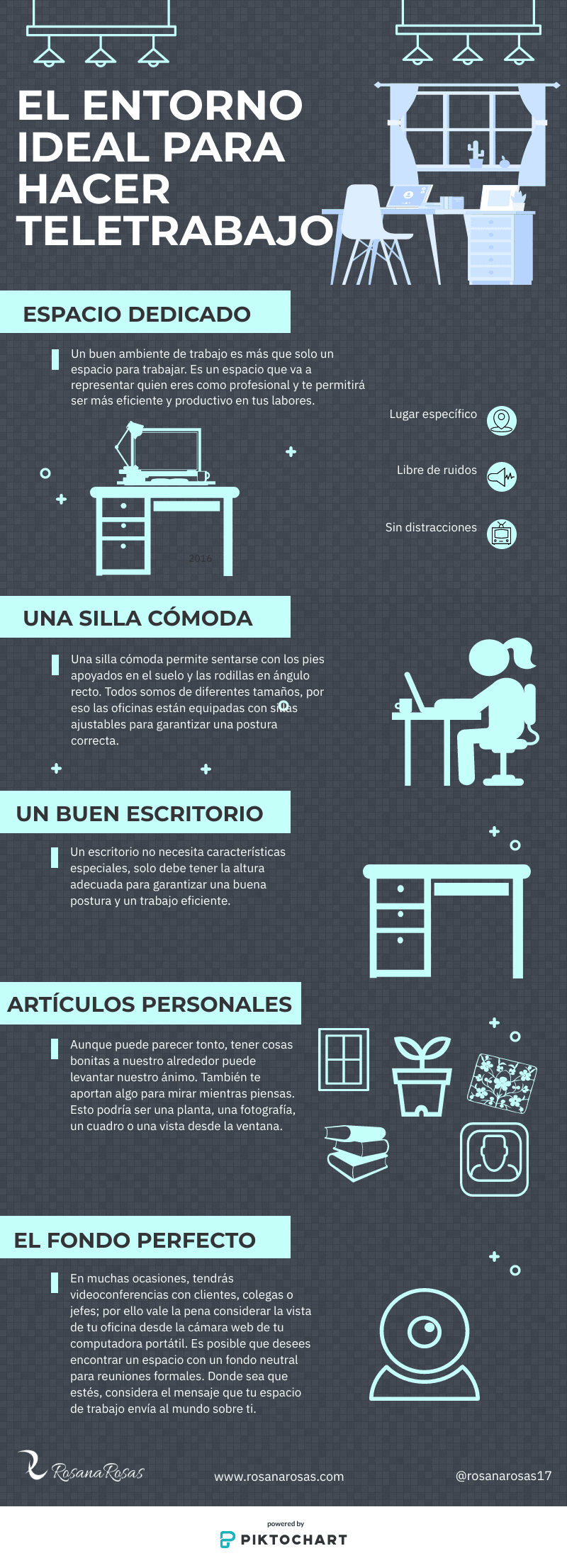 El entorno ideal para hacer Teletrabajo #infografia #infographic #rrhh