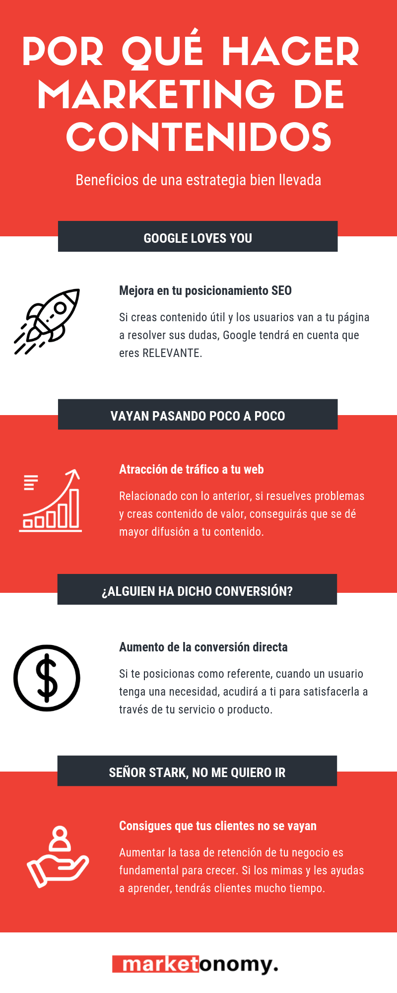 Por qué hacer Marketing de Contenidos #infografia #infographic #marketing