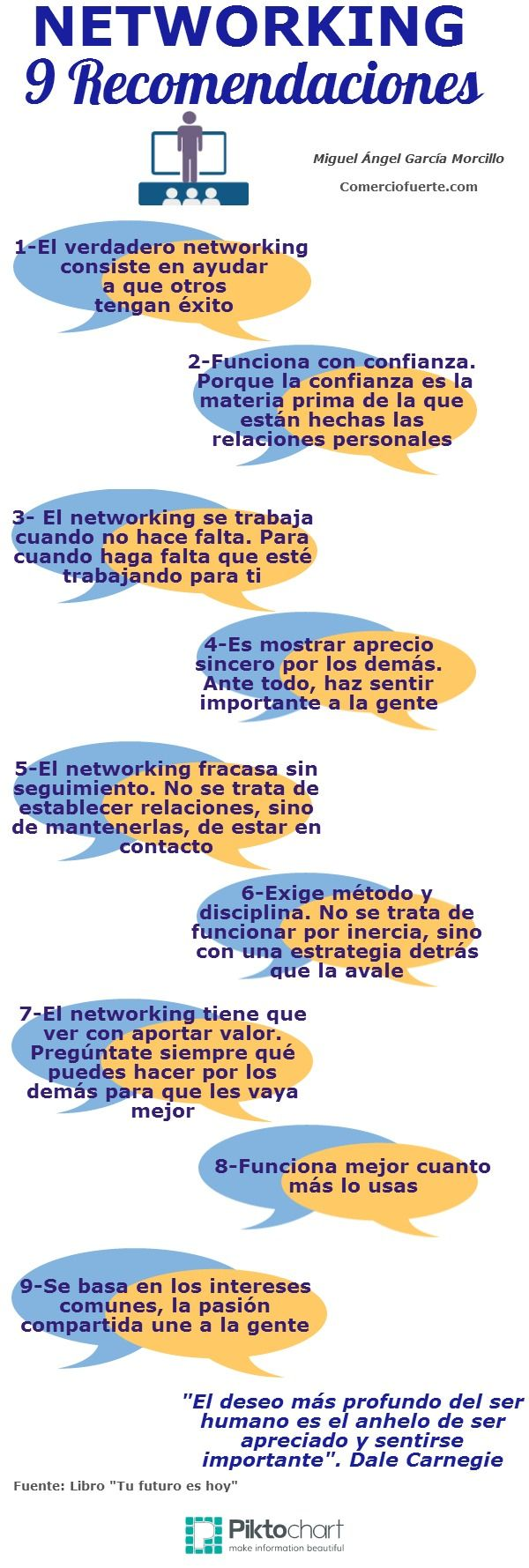 Infografia - Networking: 9 recomendaciones #infografia #infographic #marketing - TICs y Formación