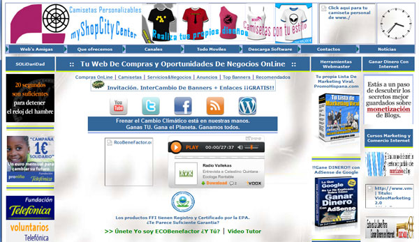 Primera Web html en Internet myShopCityCenter Nexusxm5-com