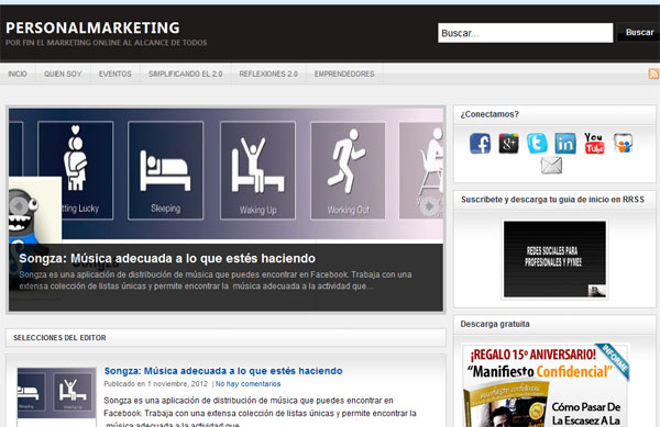 PersonalMarketing.com Web 2012