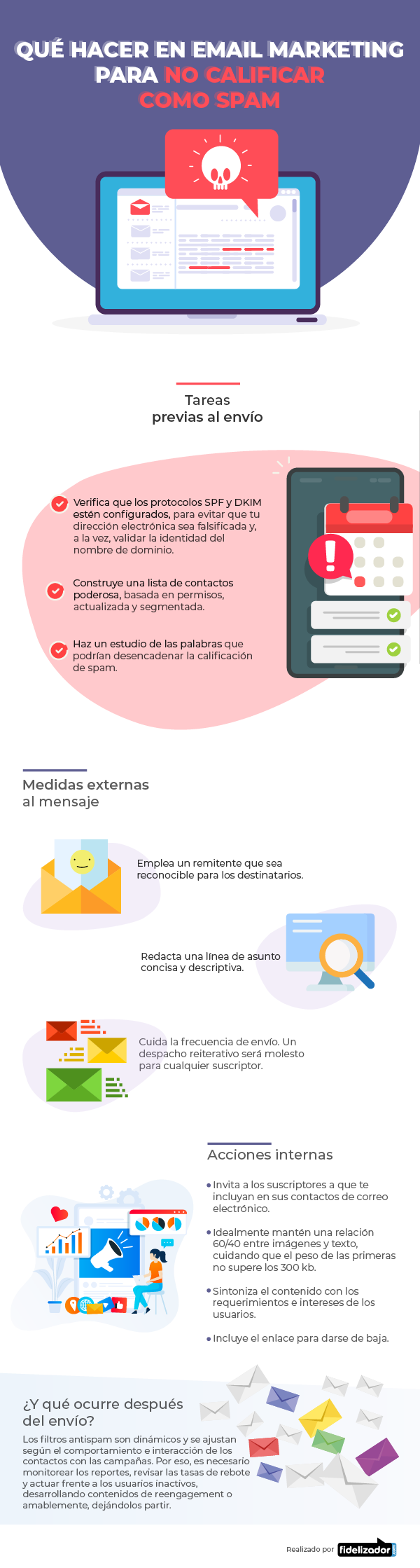 Qué hacer en Email Marketing para no calificar como spam #infografia #infographic #marketing