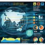 18 Plantillas Para Crear #Infografías En Formatos PSD, EPS y AI – #Infographic