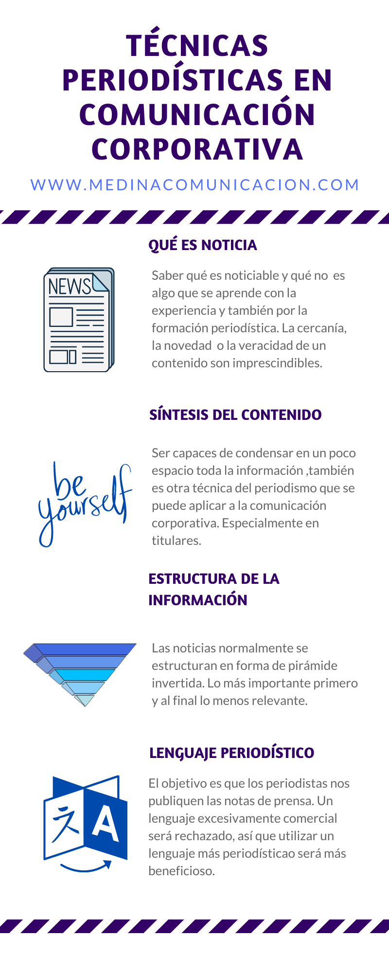 Técnicas periodísticas en comunicación corporativa #infografia #infographic #marketing
