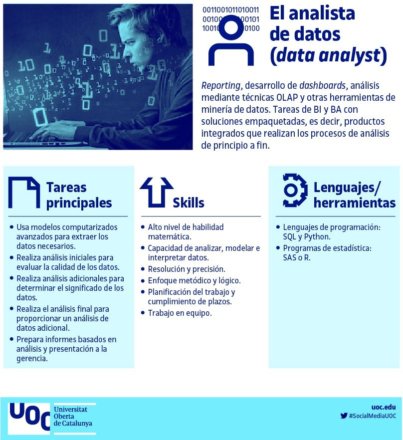 Profesión: Analista de datos #infografia #infographic #bigdata