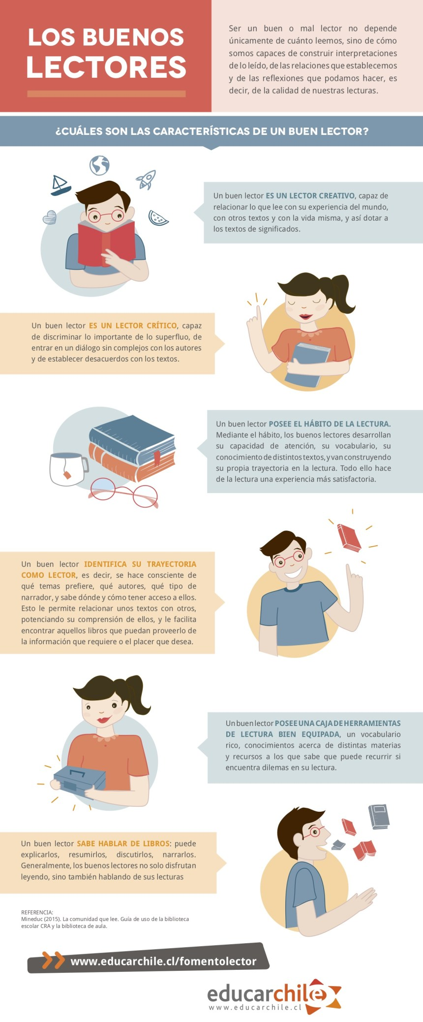 Características de los buenos lectores #infografia #infographic #education