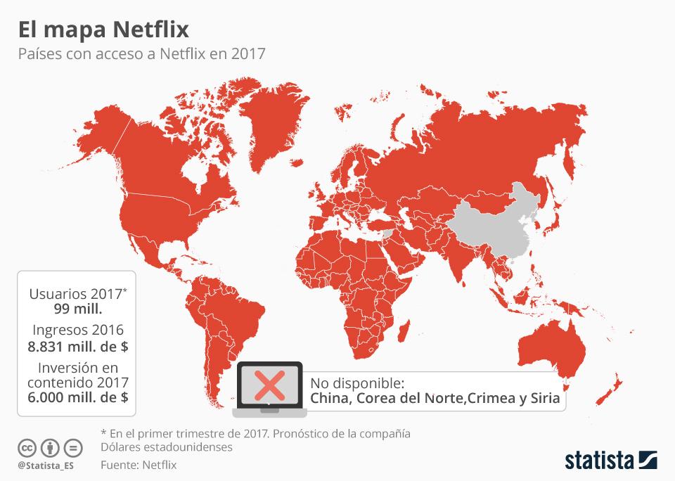 Países con acceso a Netflix #infografia #infographic