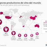 8 países mayores productores de vino #infografia #infographic