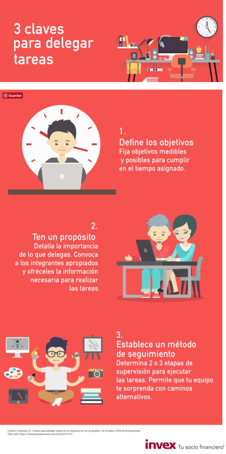 3 claves para delegar tareas #infografia #infographic #rrhh