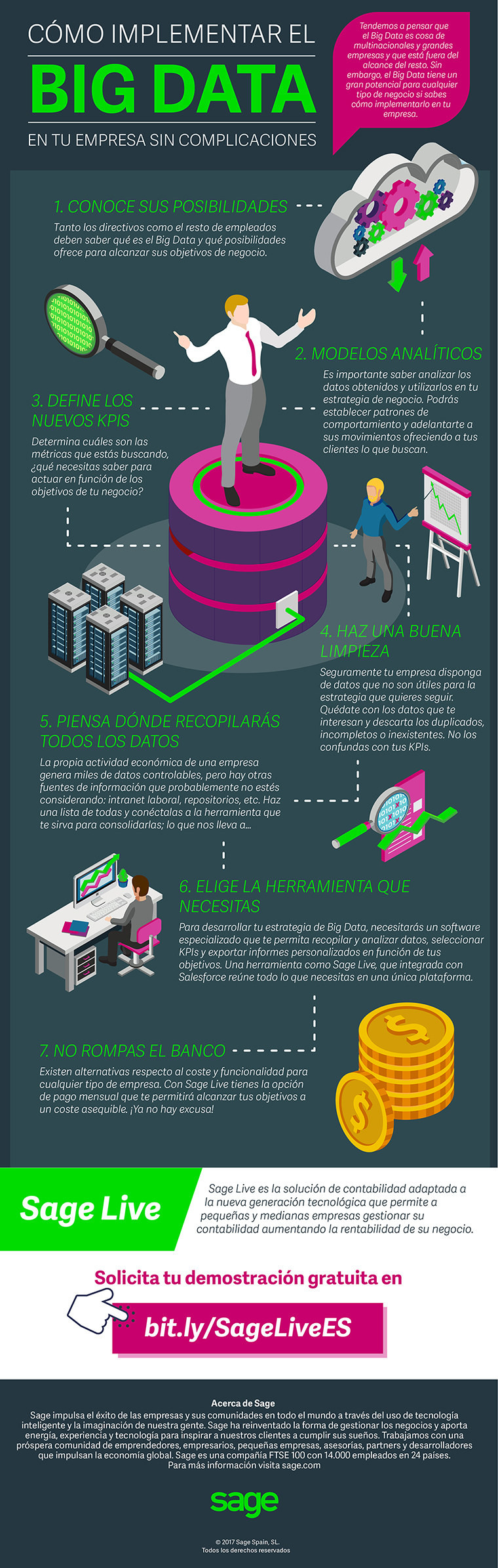 Cómo implementar Big Data en tu empresa #infografia #infographic