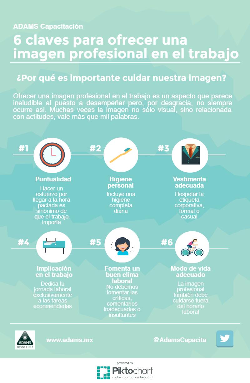 6 claves para ofrecer una imagen profesional en el trabajo #infografia #infographic #rrhh