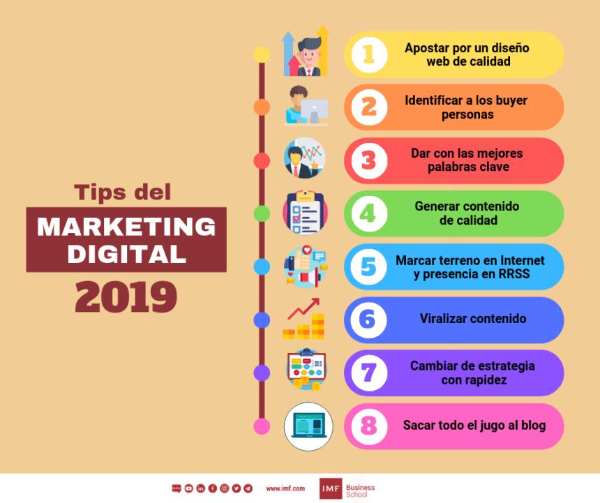 8 consejos de Marketing Digital #infografia #infographic #marketing