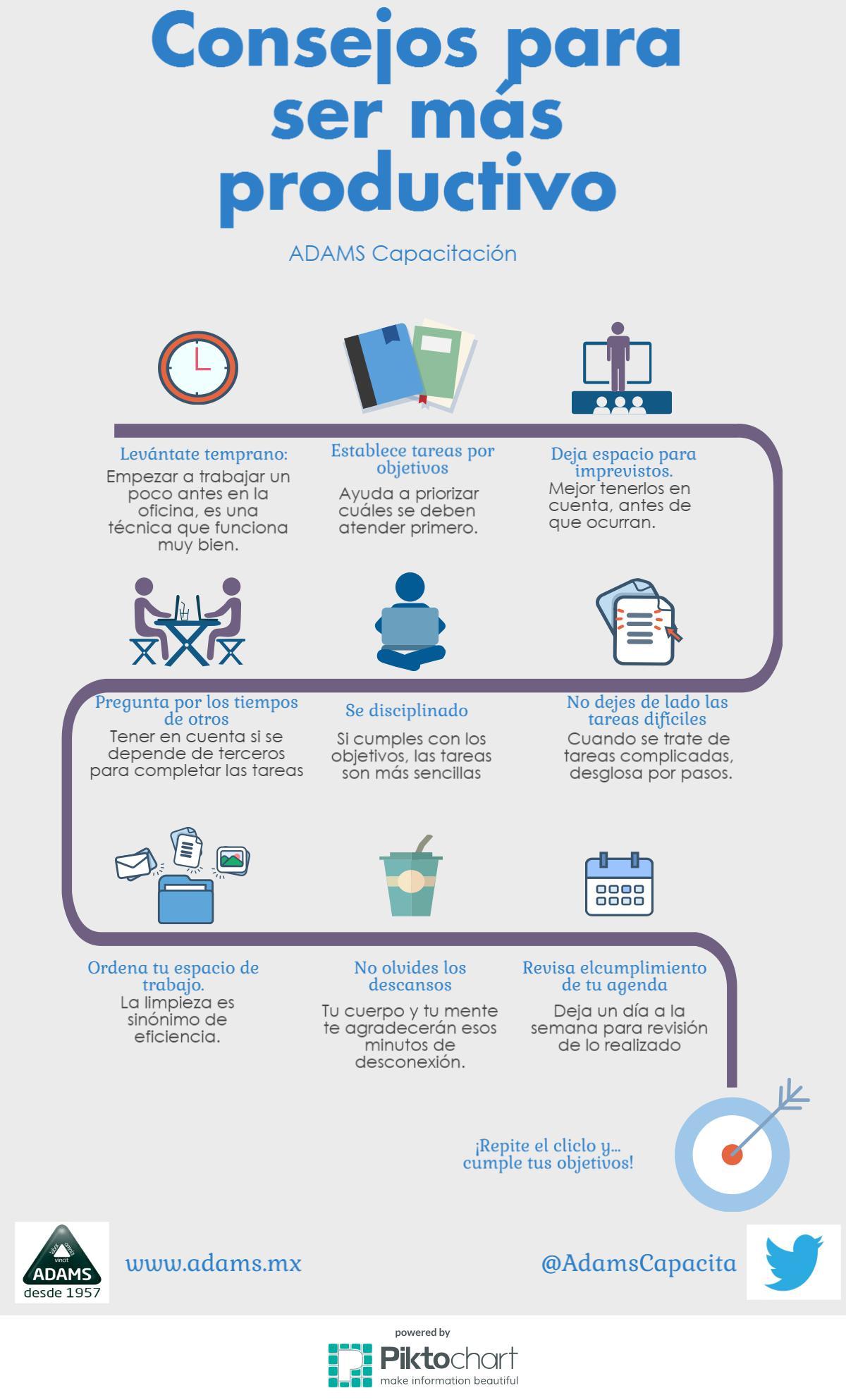Consejos para ser más productivo #infografia #infographic #productividad